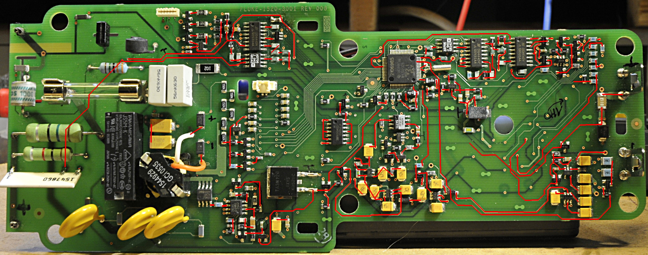 Fluke 1520 MegOhmMeter service manual ? No high voltage